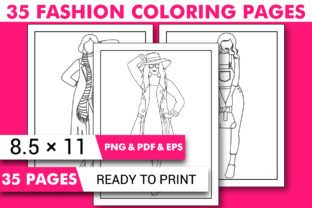 Print on Demand: Fashion Coloring Pages - KDP Interior Graphic Coloring Pages & Books Kids By KDP INTERIOR DESIGN