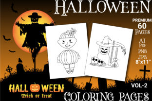 Print on Demand: Halloween Coloring Pages for Kids VOL-2 Graphic Coloring Pages & Books Kids By Simran Store