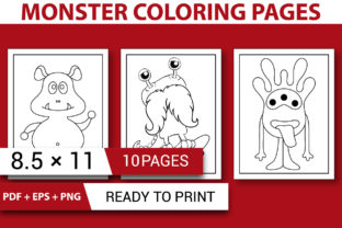 Print on Demand: MONSTER COLORING PAGES  - KDP INTERIOR Graphic Coloring Pages & Books Kids By KDP INTERIOR DESIGN