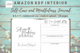 Print on Demand: Self-Care Mindfulness Positivity Journal Graphic KDP Interiors By allaboutkdp 1