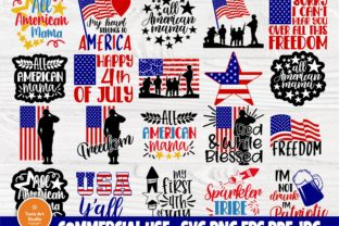 Print on Demand: 4th of July SVG Bundle, American Flag Graphic Crafts By TonisArtStudio