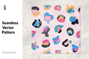 Print on Demand: Abstract Shapes and Spots Pattern Graphic Patterns By northseastudio