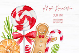Christmas Sweets Watercolor Clipart Graphic Illustrations By SipkaDesigns 3