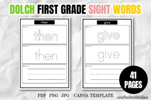Print on Demand: Dolch First Grade Sight Words Printable Graphic 1st grade By craftedwithbliss