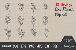 Print on Demand: Hand-Drawn Flowers and Leaves Graphic Crafts By Momixzaa