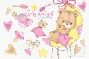 It's a Girl Clipart Bundle Baby Shower Graphic Illustrations By CosyArtStore by RivusDea