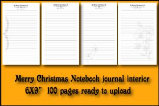 MerryChristmas Notebook Journal Interior Graphic KDP Interiors By Ador Hasan