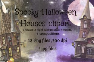Print on Demand: Mystical Houses Clipart.Magic Moon. Graphic Illustrations By Marine Universe 1