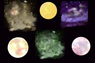 Print on Demand: Mystical Houses Clipart.Magic Moon. Graphic Illustrations By Marine Universe 3