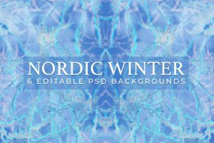 Nordic Winter 6 Holiday Backgrounds Graphic Illustrations By TheGypsyGoddess