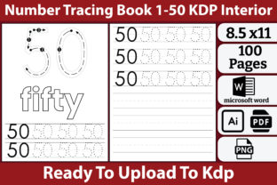 Number Tracing Book for Kids Graphic Teaching Materials By kdpkawsarmia