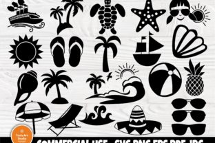 Print on Demand: Summer Clipart, Beach Svg, Sunglasses Graphic Crafts By TonisArtStudio
