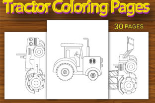 Print on Demand: Tractor Coloring Pages for Kids Graphic Coloring Pages & Books Kids By Simran Store