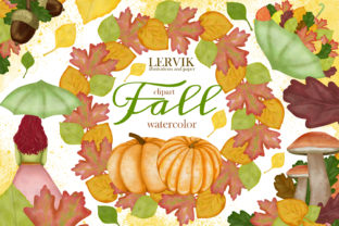 Print on Demand: Watercolor Hello Full Clipart, Autumn Graphic Illustrations By LerVik