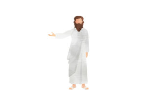 Watercolor Faceless Jesus Religious Craft Cut File By Creative Fabrica Crafts