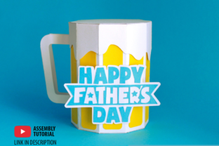 3D Father's Day Beer Gift Box 3D SVG Craft Cut File By Creative Fabrica Crafts