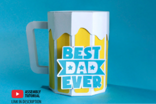3D Father's Day Beer Gift Box 3D SVG Craft Cut File By Creative Fabrica Crafts 4