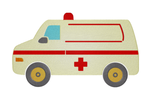 Print on Demand: Ambulance Work & Occupation Embroidery Design By embroidery dp