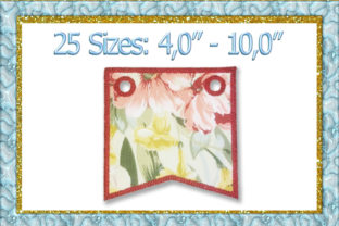 Print on Demand: Banner Flag Holidays & Celebrations Embroidery Design By larisaetsy