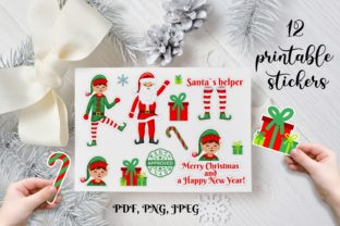 Christmas Stickers. Elf Christmas Set Graphic Illustrations By OK-Design