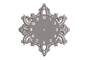 Clock Face Bedroom Embroidery Design By Embroidery Designs