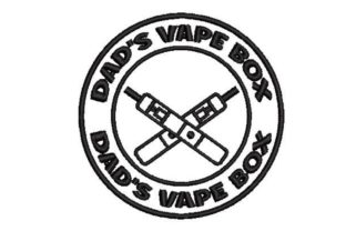 Dad's Vape Box Father Embroidery Design By Embroidery Designs