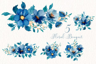 Print on Demand: Digital Clipart Watercolor Flower Part47 Graphic Illustrations By asrulaqroni