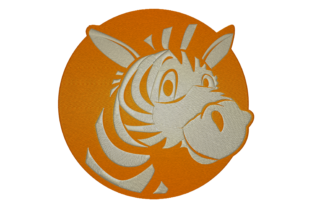 Print on Demand: Funny Zebra Animals Embroidery Design By embroidery dp