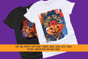 Print on Demand: Halloween PNG Sublimation Design Bundle Graphic Illustrations By nesdigiart 5