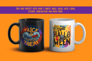 Print on Demand: Halloween PNG Sublimation Design Bundle Graphic Illustrations By nesdigiart 6