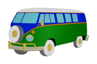 Print on Demand: Hippie's Van Travel & Season Embroidery Design By embroidery dp