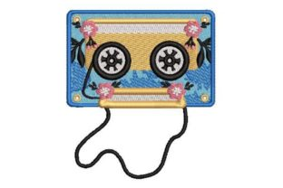 Mixtape with Flowers Music Embroidery Design By Embroidery Designs