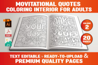 Print on Demand: Motivational Quotes Coloring Book Pages Graphic Coloring Pages & Books Adults By Infinite Desings