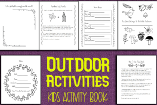 Print on Demand: Outdoor Activities Kids Activity Book Graphic KDP Interiors By Mary's Designs