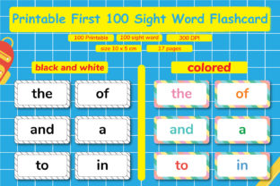 Printable First 100 Sight Word Flashcard Graphic Teaching Materials By Kids Zone