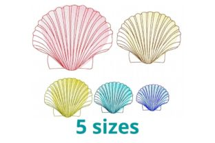 Seashell Fish & Shells Embroidery Design By Beautiful Embroidery