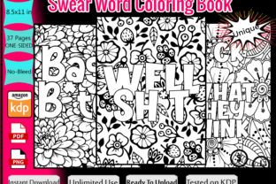 Print on Demand: Swear Word Coloring Book for Adults Graphic KDP Interiors By Funnyarti