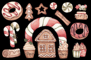 Print on Demand: Watercolor ClipArt - Christmas Bakery Graphic Illustrations By SirenaArt 3