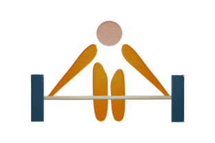 Print on Demand: Weightlifting Athlete Hobbies & Sports Embroidery Design By embroidery dp