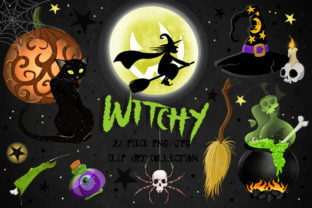 Witch's Brew Fun Halloween Clipart Set Graphic Illustrations By Dapper Dudell