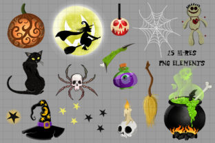 Witch's Brew Fun Halloween Clipart Set - 2