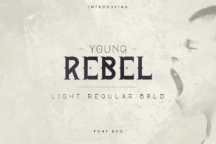 Print on Demand: Young Rebel Display Font By VPcreativeshop