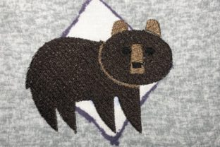 Bear Woodland Animals Embroidery Design By Lizzsews