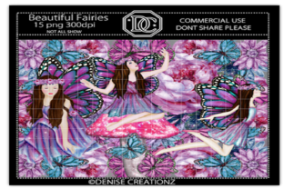 Beautiful Fairies Graphic Crafts By Denise Creationz
