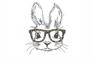 Bunny with Glasses Woodland Animals Embroidery Design By NinoEmbroidery