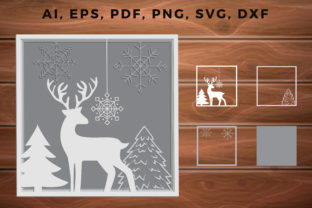 Print on Demand: CHRISTMAS Multilayer Cut Files Svg Graphic 3D SVG By NGISED