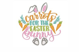 Carrots for the Easter Bunny Easter Embroidery Design By NinoEmbroidery