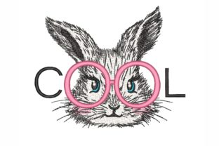 Cool Bunny Easter Embroidery Design By NinoEmbroidery