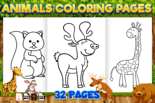 Print on Demand: Cute Animals Coloring Book for Kids -kdp Graphic Coloring Pages & Books Kids By Kristy Coloring