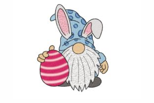 Easter Gnome Easter Embroidery Design By NinoEmbroidery